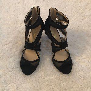 Black mesh Nine West heels